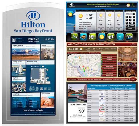 màn hình chuyên dụng cho khách sạn